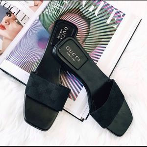 "Gucci sliders "", perfect condition size 7"